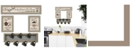"""Trendy Decor 4U Kitchen Collection IV 4-Piece Vignette with 7-Peg Mug Rack by Millwork Engineering, Taupe Frame, 32"""" x 10"""""""