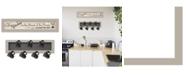 "Trendy Decor 4U The Kitchen Vignette 2-Piece Vignette with 7-Peg Mug Rack by Millwork Engineering, Sand Frame, 32"" x 7"""