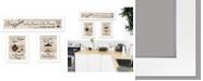 """Trendy Decor 4U Kitchen Friendship Collection III 3-Piece Vignette by Millwork Engineering, White Frame, 33"""" x 11"""""""