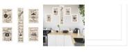 """Trendy Decor 4U Kitchen Friendship Collection 5-Piece Vignette by Millwork Engineering, White Frame, 10"""" x 32"""""""