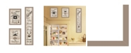 """Trendy Decor 4U The Kitchen Collection I 3-Piece Vignette by Millwork Engineering, Taupe Frame, 10"""" x 32"""""""