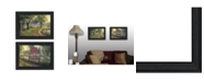 """Trendy Decor 4U Coming Home Vignette Collection By Kim Norlien, Printed Wall Art, Ready to hang, Black Frame, 42"""" x 15"""""""
