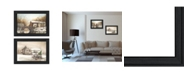 """Trendy Decor 4U Winter Reflections Collection By John Rossini, Printed Wall Art, Ready to hang, Black Frame, 54"""" x 21"""""""