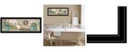"Trendy Decor 4U Garden Bath by Pam Britton, Ready to hang Framed Print, Black Frame, 39"" x 15"""