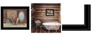 "Trendy Decor 4U Country Bath by Pam Britton, Ready to hang Framed Print, Black Frame, 17"" x 14"""