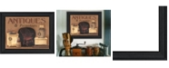 """Trendy Decor 4U Antiques and Primitives By Pam Britton, Printed Wall Art, Ready to hang, Black Frame, 19"""" x 15"""""""