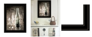 "Trendy Decor 4U Moody Gray Wine Glass Still Life by Bluebird Barn, Ready to hang Framed Print, Black Frame, 15"" x 19"""