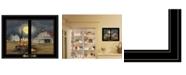 "Trendy Decor 4U Trendy Decor 4U Spooky Harvest Moon by Billy Jacobs, Ready to hang Framed Print, Black Window-Style Frame, 19"" x 15"""