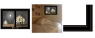 """Trendy Decor 4U Still of the Night by Billy Jacobs, Ready to hang Framed Print, Black Window-Style Frame, 21"""" x 15"""""""