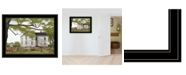 """Trendy Decor 4U Sweet Summertime House by Billy Jacobs, Ready to hang Framed Print, Black Frame, 27"""" x 21"""""""