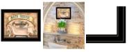 "Trendy Decor 4U Trendy Decor 4U Bath House by Becca Barton, Ready to hang Framed Print, Black Frame, 13"" x 11"""