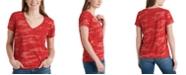 Lucky Brand V-Neck Printed Cotton T-Shirt