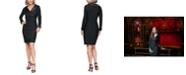Alex Evenings Satin-Trim Sheath Dress