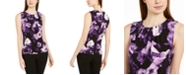 Calvin Klein Floral Print Sleeveless Top