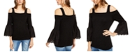 INC International Concepts INC Eyelet-Sleeve Cold-Shoulder Sweater, Created For Macy's