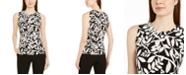Calvin Klein Petite Floral Print Sleeveless Top