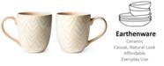 Coton Colors by Laura Johnson Blush Layered Diamond Mug