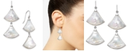 Macy's Mother-of-Pearl Fan Drop Earrings in Sterling Silver