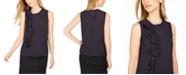 Calvin Klein Side-Ruffle Sleeveless Top