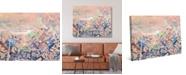 "Creative Gallery Hazy Orange Abstract 20"" x 16"" Canvas Wall Art Print"
