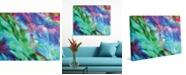 "Creative Gallery In Un Crescendo Vibrant Abstract 36"" x 24"" Canvas Wall Art Print"