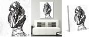 "Creative Gallery Ballet Dancer Sketch 24"" x 20"" Canvas Wall Art Print"