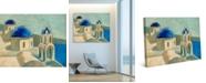 "Creative Gallery Santorini, Greek Coast Cyclades 20"" x 16"" Canvas Wall Art Print"