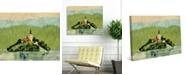 "Creative Gallery Slovenia Island Sanctuary on Lake Bled 36"" x 24"" Canvas Wall Art Print"