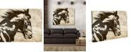 "Creative Gallery Obsidian Sandstone Stallion 36"" x 24"" Canvas Wall Art Print"