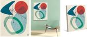 "Creative Gallery Retro Boomerang Sun Sea 20"" x 16"" Canvas Wall Art Print"