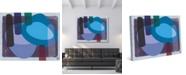 "Creative Gallery Retro Boomerang Drummer Blues Abstract 20"" x 16"" Canvas Wall Art Print"