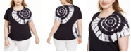 INC International Concepts INC Plus Size Cotton Tie-Dyed T-Shirt, Created For Macy's