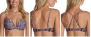 Raisins Juniors' Baja Surf Printed Moonshadow Underwire Bikini Top