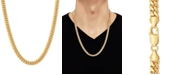 """Macy's Cuban Link 24"""" Chain Necklace in 18k Gold-Plated Sterling Silver"""