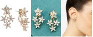 lonna & lilly Gold-Tone Crystal Flower Front-and-Back Earrings