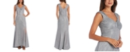 R & M Richards Metallic Column Gown