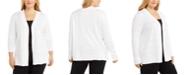 Karen Scott Plus Size Pointelle Cardigan, Created for Macy's