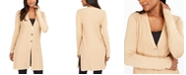 JM Collection Ribbed Button-Front Duster Cardigan, Created For Macy's
