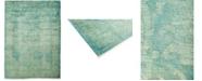 "Timeless Rug Designs One of a Kind OOAK468 Aquamarine 6'1"" x 8'5"" Area Rug"
