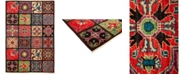 """Timeless Rug Designs CLOSEOUT! One of a Kind OOAK1306 Red 5'3"""" x 7'8"""" Area Rug"""