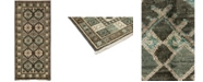 """Timeless Rug Designs CLOSEOUT! One of a Kind OOAK3672 Olive 4'3"""" x 9'7"""" Runner Rug"""