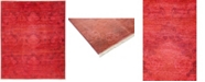 """Timeless Rug Designs CLOSEOUT! One of a Kind OOAK3331 Red 8"""" x 9'9"""" Area Rug"""