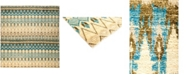 """Timeless Rug Designs CLOSEOUT! One of a Kind OOAK2962 Teal 9'9"""" x 10'2"""" Area Rug"""