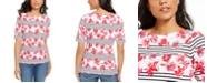 Karen Scott Printed Boat-Neck Top, Created For Macy's