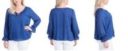 Jessica Simpson Trendy Plus Size Sassie Blouson Blouse