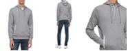 Calvin Klein Men's Colorblocked Mix-Media 1/4-Zip Hoodie