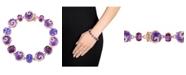 Macy's Multi-Gemstone (41 5/8 ct. t.w.) and Diamond (3/4 ct. t.w.) Link Scroll Bracelet in 14k Rose Gold