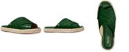 Michael Kors Linden Croc-Embossed Slide Flat Sandals