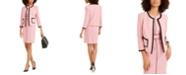 Nine West Contrast-Piping Jewel-Neck Jacket & Sheath Dress