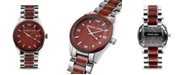 Original Grain Men Two Tone Stainless Steel Bracelet Watch, 43mm